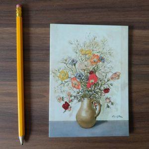 Vaas met wilde bloemen ansichtkaart