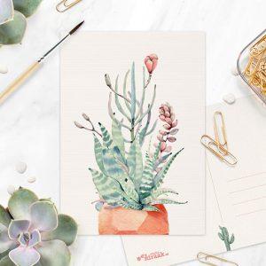 Bloeiend plantje ansichtkaart