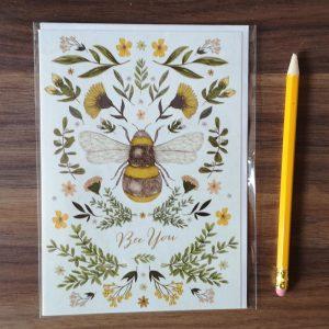 Bee You dubbele verjaardagskaart